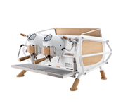 Café Racer White & Wood
